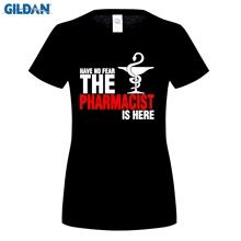 woman fashion brand t shirt womans Male Have No Fear The Pharmacist Is Here T Shirt Pharmacy T-shirts