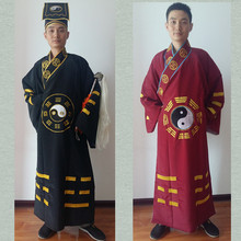 Men Taoist clothes show clothes Taoist robes supplies Road clothes Road robes gossip Dao Shi clothing