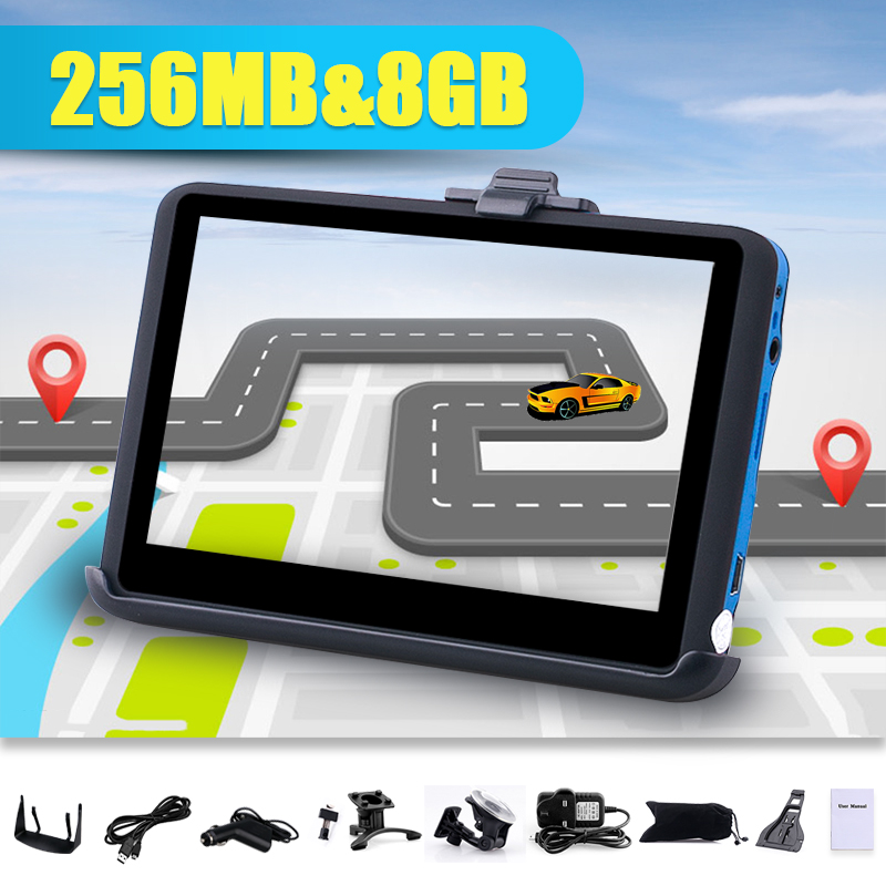 "TOM 4.3"" Car GPS Navigation Navigator 8GB SAT NAV FM TOM Free Maps Update NEW"