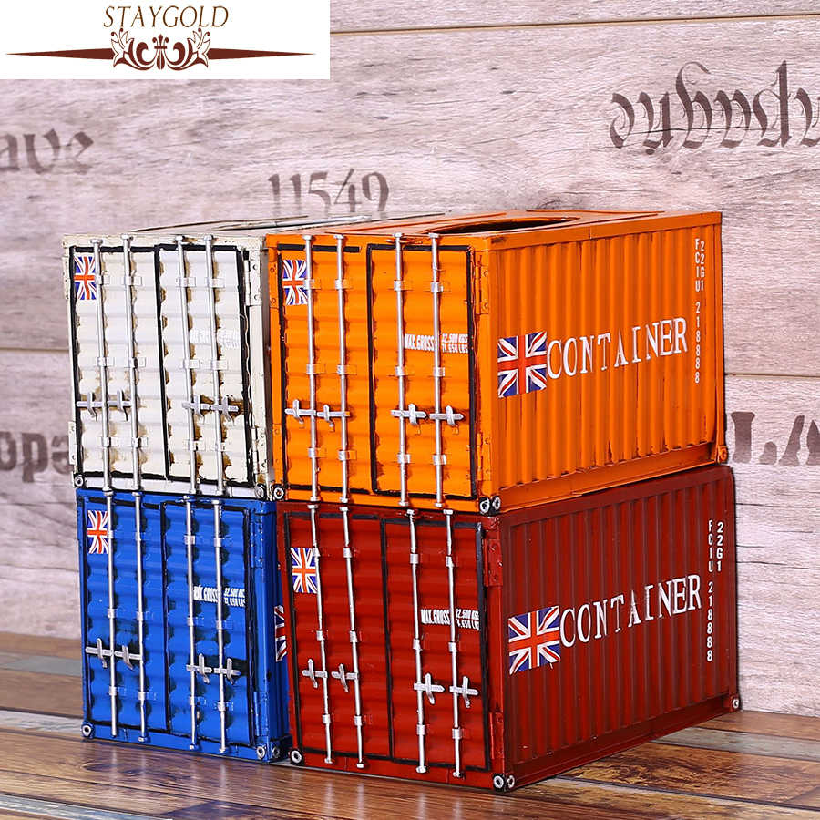 Europe Desktop Creative Container Tissue Boxes Paper Storage Box Seat Type Tissue Cover Home Table Decoration Accessories 6ZJ094