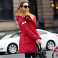 2016 New Brand Women Winter Coat Warm Wadded Jacket Korean Fashion Fur Collar Thickening Hood Abrigos Female Snow Wear  A2405