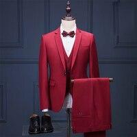 OSCN7 2019 новый простой портной костюм для мужчин 3 шт джентльмен деловой Свадебный индивидуальный мужской костюм Блейзер на заказ 03