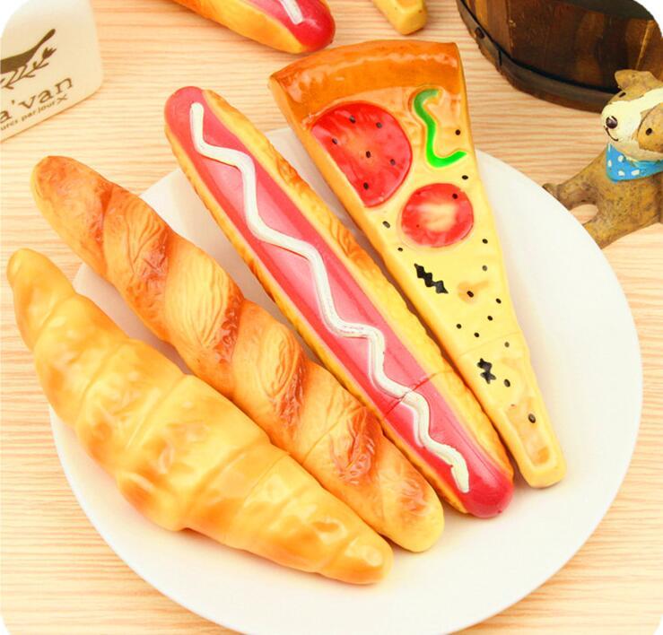 Dependable Pizza Bread Hot Dog Ball Pen Magnetic Ballpoint Pens Food Pens Office School Stationary 100pcs/lot Ballpoint Pens