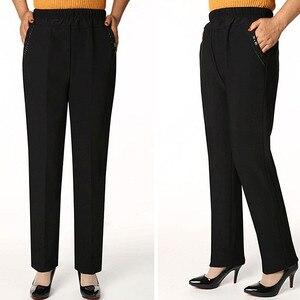 Image 2 - Женские длинные брюки с высокой талией, Зимние Повседневные Леггинсы большого размера