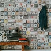 Europese Bohemian Nationale Stijl Behang Abstracte Klassieke Bakstenen Muur Papier