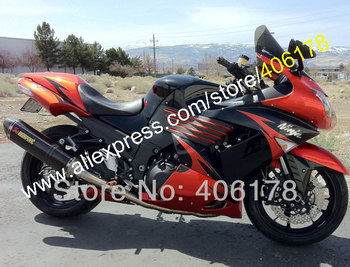 For Ninja red black ZX-14R 2006 2007 2008 2009 2010 2011 ZX14R 06-11 ZX 14R Fairings Kit (Injection molding)