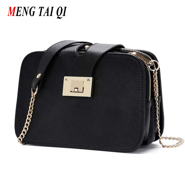 Fashion Women Bag Ladies Messenger Bags 2016 Chain Shoulder Bag Women Leather Handbag Small Clutch Bag 3 Fold Luxury Brand Sac 3