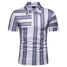 057380acc5 Polos tamaño de Europa nueva de la marca de los hombres de manga larga camisa  de Polo de manga corta de verano camisa a rayas de.
