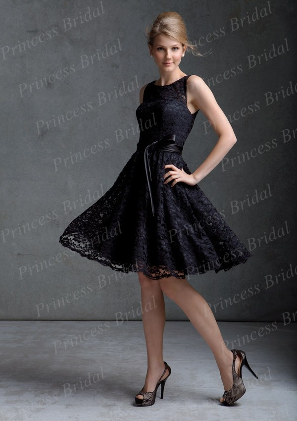 Popular Short Black Bridesmaid Dress-Buy Cheap Short Black ...