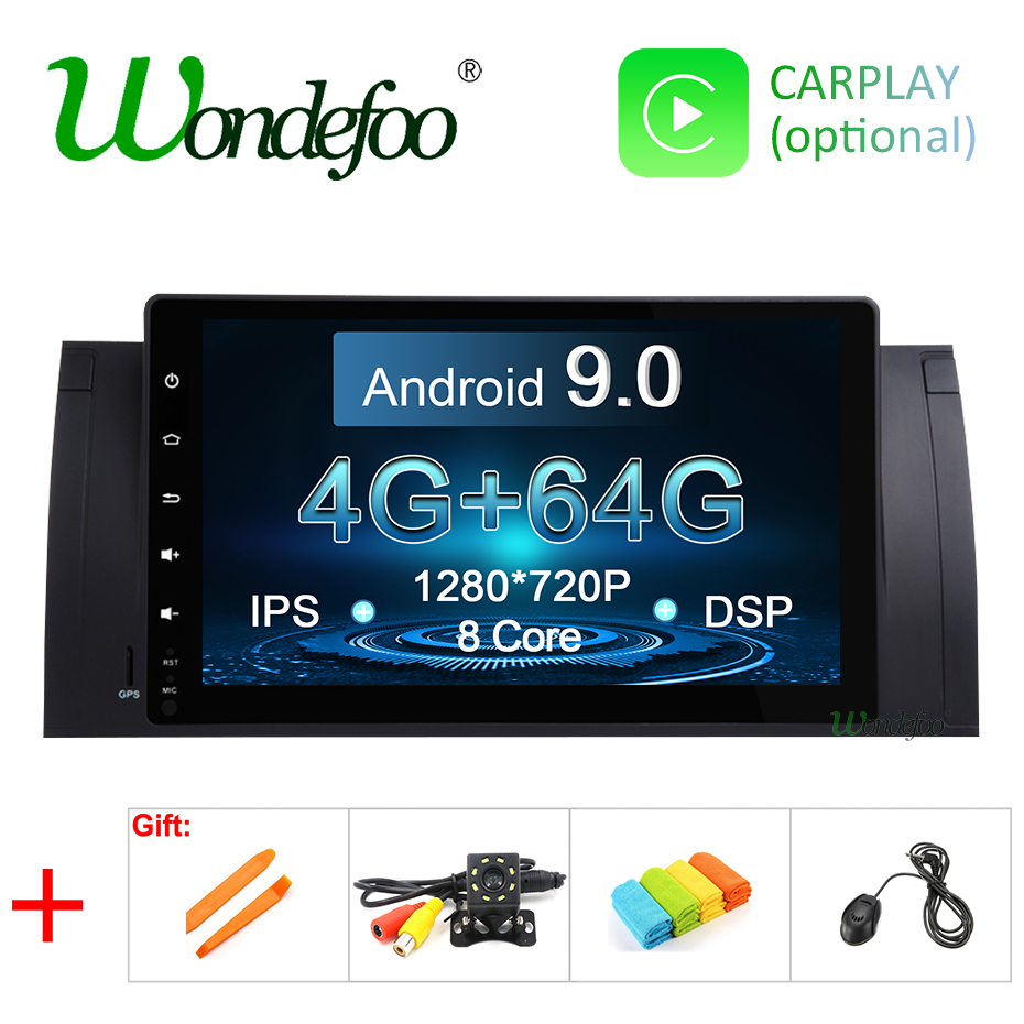 DSP IPS Android 9 0 4G 8 CORE 64G Car GPS for BMW X5 E53 1999