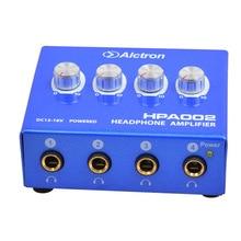 Alctron HPA002 Портативный Наушники Наушники Усилитель 6.35 мм Стерео и Разъем RCA высокое качество стали Большой Мощности Высокое Качество Звука