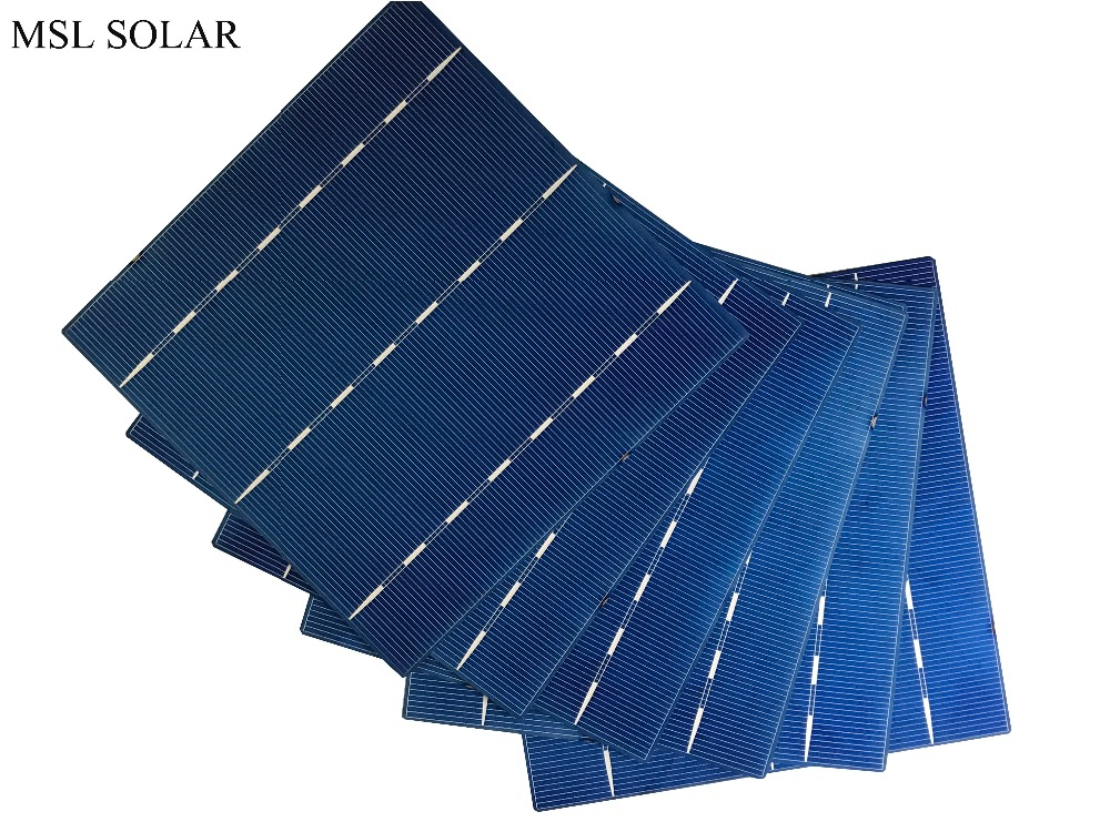 MSL SOLAR 10pcs/Lot 17% 156mmx156mm6 Solar Cells 6x6 Grade A polycrystalline Silicon PV cells For DIY Photovoltaic Solar Panel