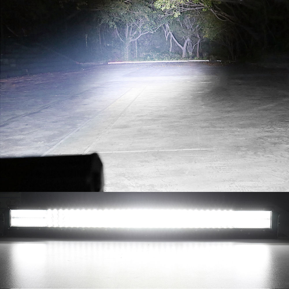 """Image 3 - CO LIGHT 42"""" Curved LED Light Bar 12D 744W Combo Beam Quad Rows Led Work Light for Jeep SUV ATV PickUp Truck Led Bar Offroad 12V-in Light Bar/Work Light from Automobiles & Motorcycles"""