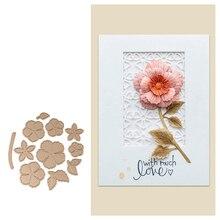 YaMinSanNiO New Arrival Leaf Flower Album 11Pcs Metal Cutting Dies for Scrapbooking Stencil DIY Craft