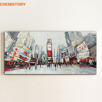 Unframed HandPainted Abstract Oil Painting Modern City Street Landscape Canvas Painting Wall Art Picture For Home