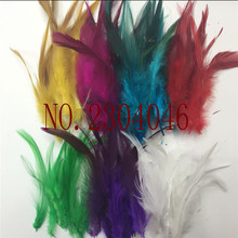 Wholesale natural beautiful feather 5-6 inches 7 color mixed 350 feathers decorative accessories earrings headdress,