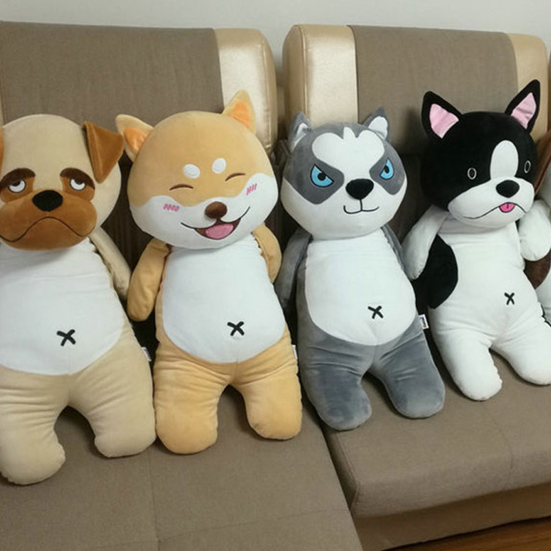 Fancytrader Cuddly 80cm Big Soft Cartoon Husky Plush Pillow Shiba Inu Hug Cushion 31'' Stuffed Animal Dog Toy Doll Child Gift creative akita dog shiba inu plush toys imitation dog doll cartoon birthday gift 40 60cm