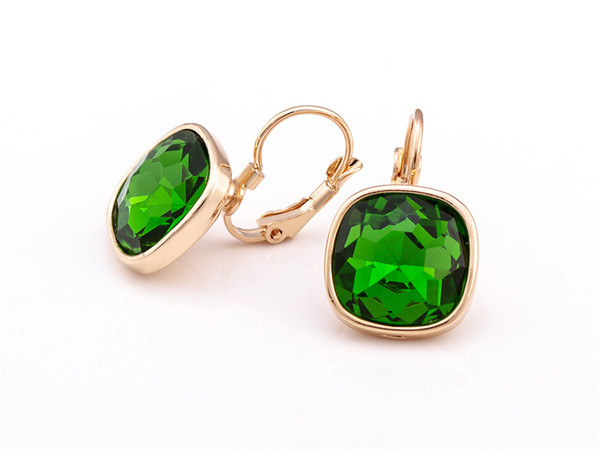 and tradesy s green stone gold earrings i clip on chico earring