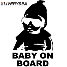 SLIVERYSEA Baby on Board Car Safty Sticker Decal Waterproof Night Reflective Wall Stickers Covers #B1231