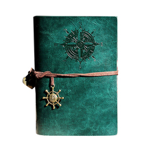 Купить Retro Personality Notebooks Travel Journal Notepads Pirate Cover Ring Binder Diary Notebook Green S в интернет-магазине дешево