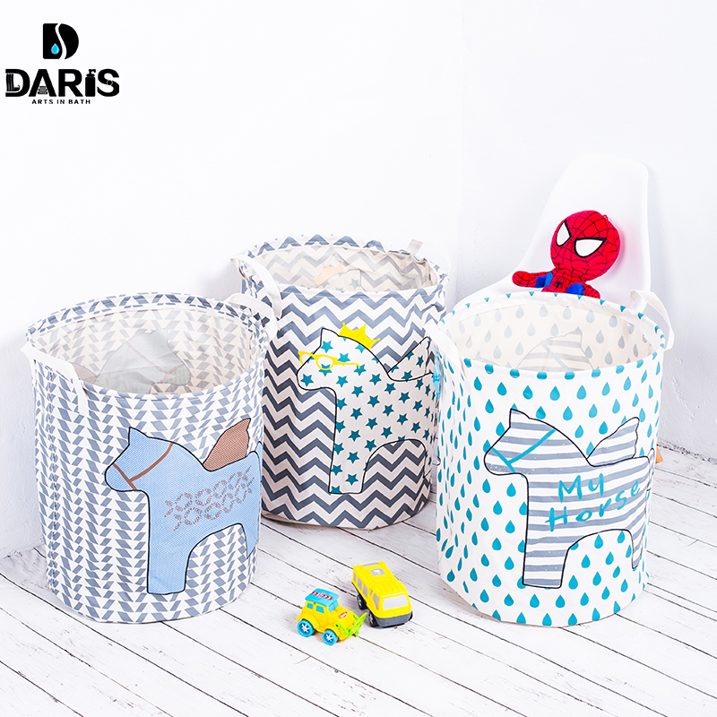 SDARISB Designer Cute Toy Kids Laundry Bag Basket For Toy Children Laundry Storage Box Bin Foldable Laundry Organizer Hamper