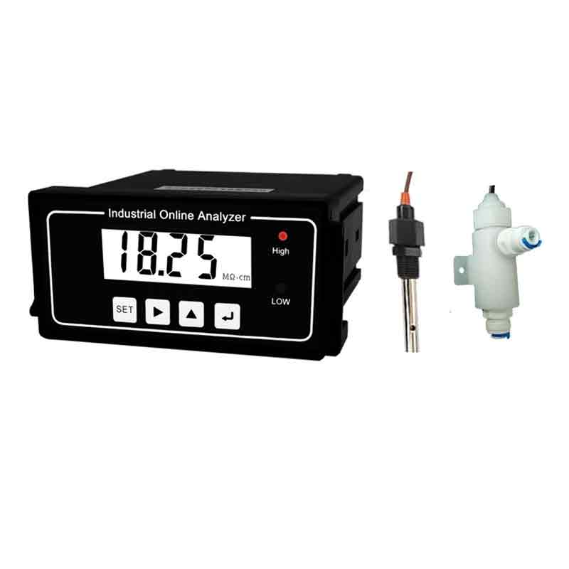 Real Time Pure Water Resistivity Meter Controller Transmitter Monitor Relay 4 20mA Voice alarm industrial online