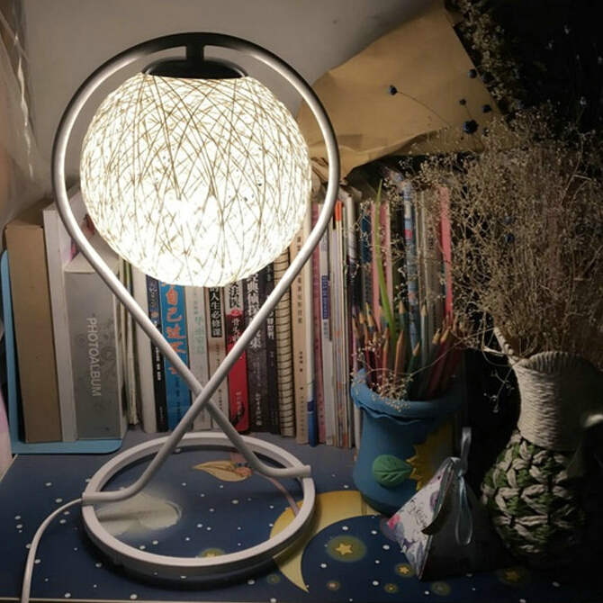 4 Colors Table Lamp Modern Sepak Takraw Wood Protect Eyesight Desk Lamp For Home Bedroom Living Room Decoration Bedside Lamp carmen d or
