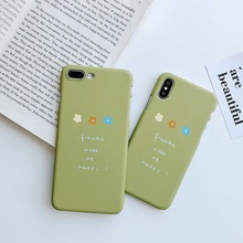 Fashion Cute Phone Case For iphone XS Max XR X 6 S 7 8 Plus English Letter Flower Kim Hyun-a Style Hard PC Back Cover Shell
