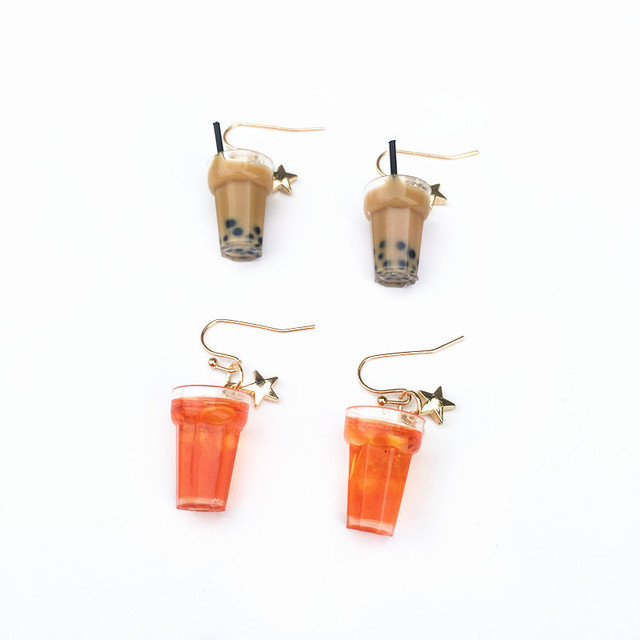 Lemon Ice Pearl Tea Earrings 1