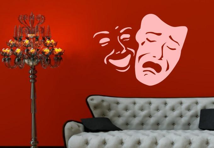patrn de la cara de sonrisa y triste teatro de mscaras decoracin de paredes decoracin