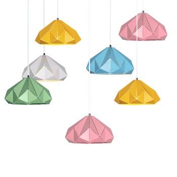 Nordic simple restaurant pendant lights designer bar bedside lamp creative personality loft single head macaron led colors lamp