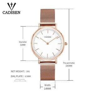 Image 3 - CADISEN スーパースリムスライバーメッシュステンレス鋼腕時計女性ブランドの高級カジュアル時計レディース腕時計女性レロジオ Feminino