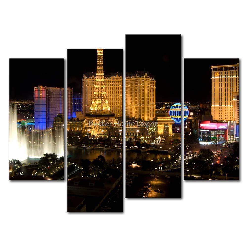 3 Piece Wall Art Painting Las Vegas Nice Night Scene