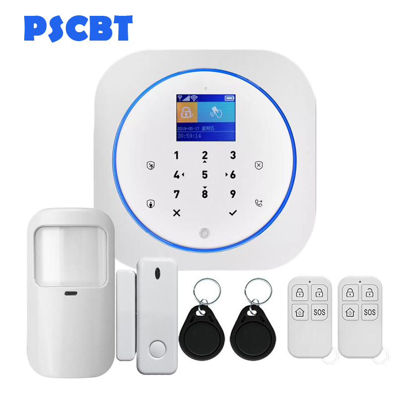 PS11 GSM Alarm SMS Card Android IOS APP Remote Control Security Burglar Russian, French Auto Dialer Touch Keypad for Home