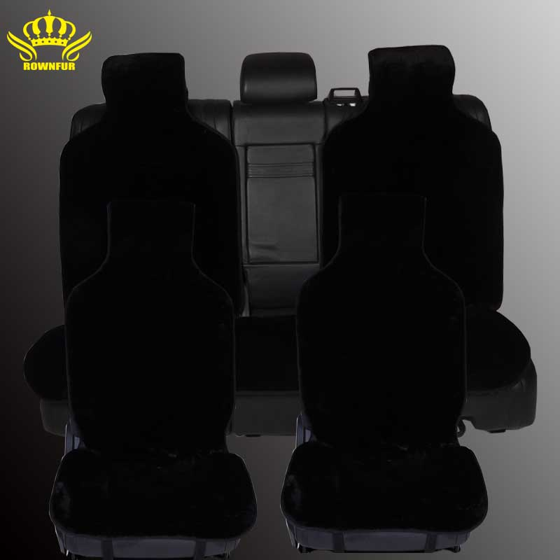 Авто меховые универсальные накидки чехлы на сиденья для автомобиля комплект на весь салон искусственный мех 5 цветов авто чехлы для сидений...
