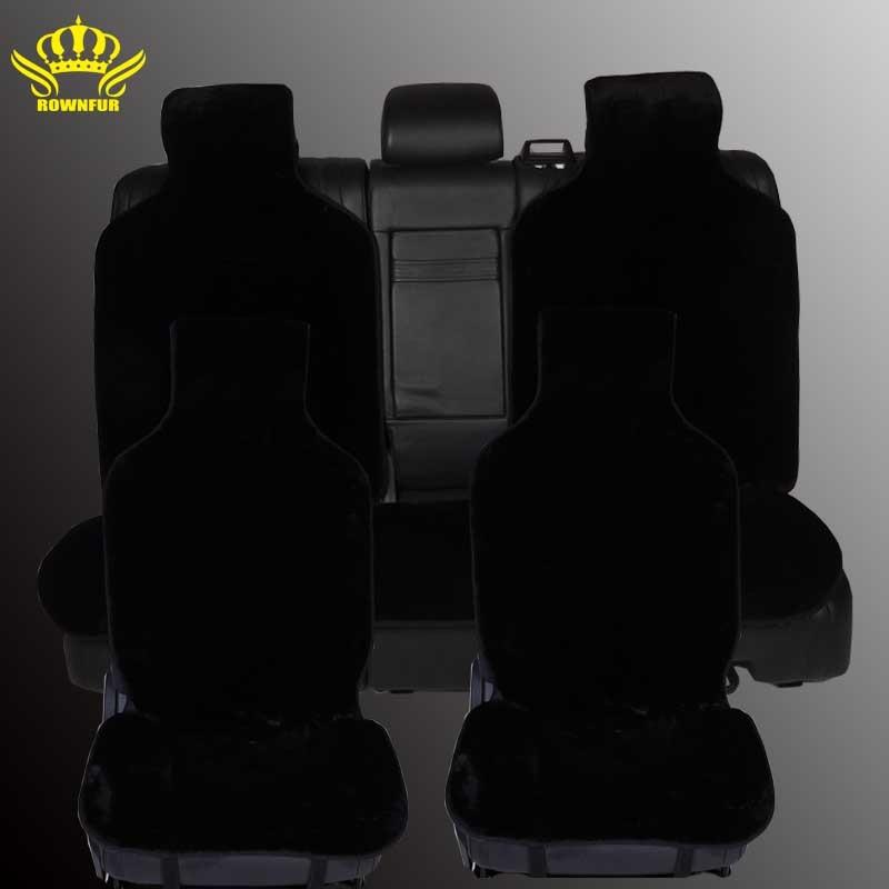 Hot sale avtomobilnvy tamanho faux fur estolas para lada Car seat covers universal Tampas de Assento acessórios cor preta i001-5