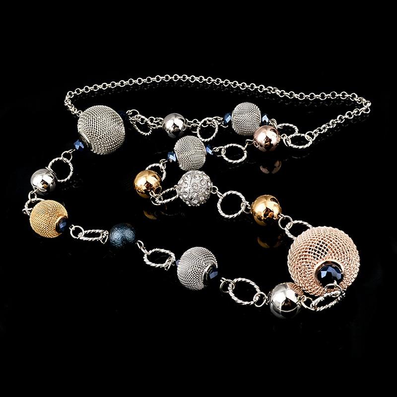 LongWay Vintage srebrna boja zlatna boja lančana ogrlica nakit - Modni nakit - Foto 6