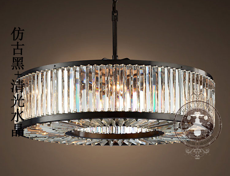 Loft Modern Crystal Chandelier Light For Dining Room Led Chandeliers Round Lamp K9 E14 Pendant Zdd0010