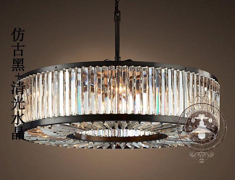 Loft moderne kristallen kroonluchter licht voor eetkamer led