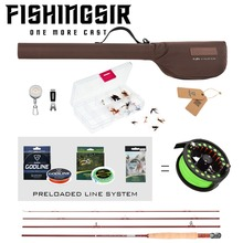 FISHINGSIR Fly Fishing Rod and Reel Combos Fly Poles and Reels Set Anglers Fly Fishing Outfit Complete Starter Full Kit