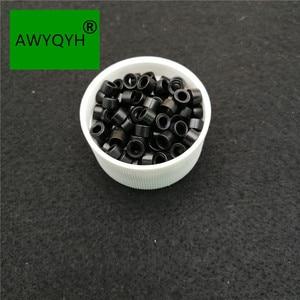 Image 4 - 5000pcs dei capelli micro anello Microring microringen Silicone Links Perline tubo Capelli Treccine E Piume Estensioni