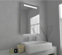 Светодиодный Ванная комната зеркало с подсветкой настенный Ванная комната зеркала с панель для демистера и Сенсор