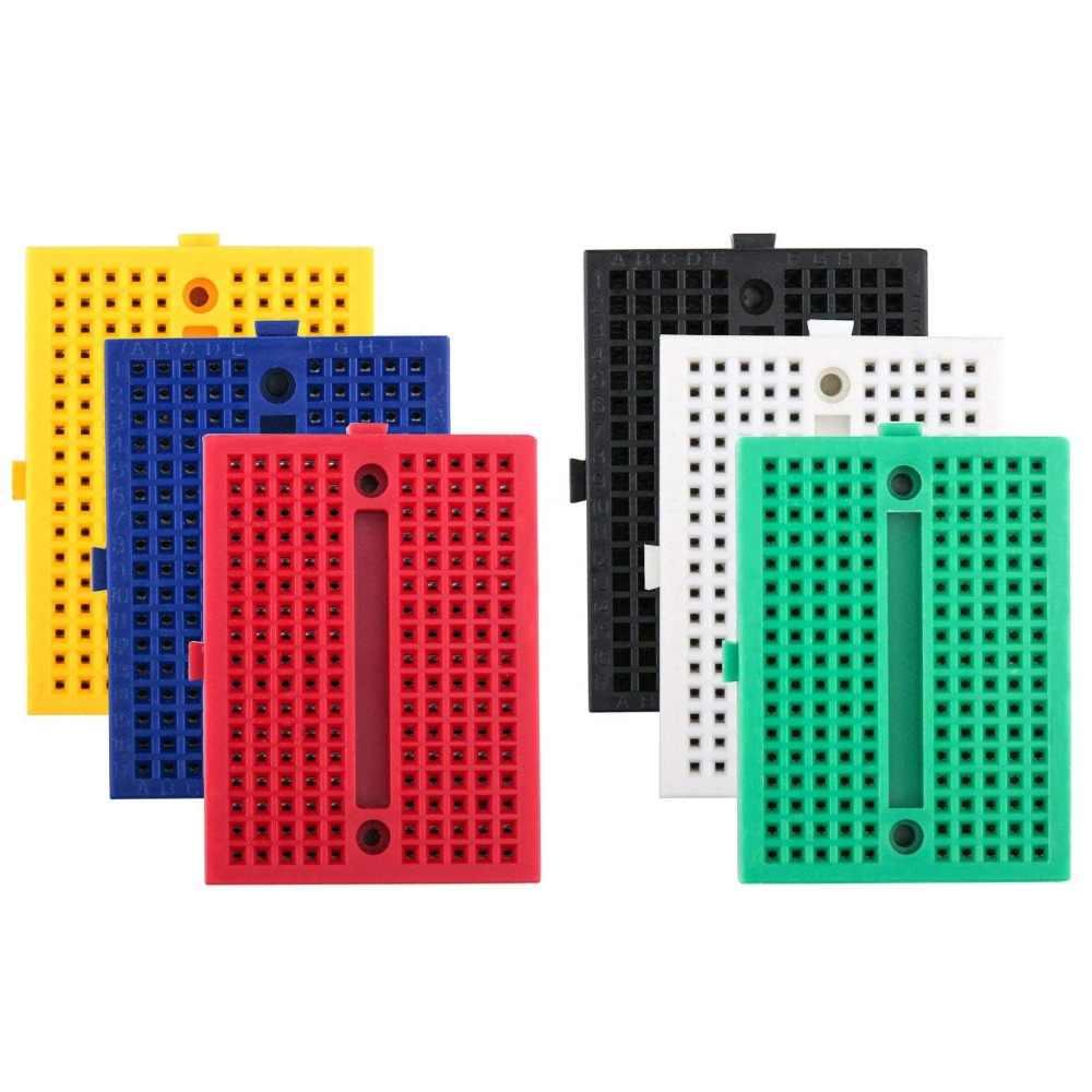 اللوح 170 نقطة اللوح البسيطة 170 نقطة لحام PCB لوح خبز 170 ثقوب اختبار تطوير لاردوينو Diy كيت