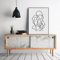 Modern Minimalist Picasso Abstract Figure Shape Canvas Art Painting Poster Classroom Wall Picture Home Deco Paintings No Frame