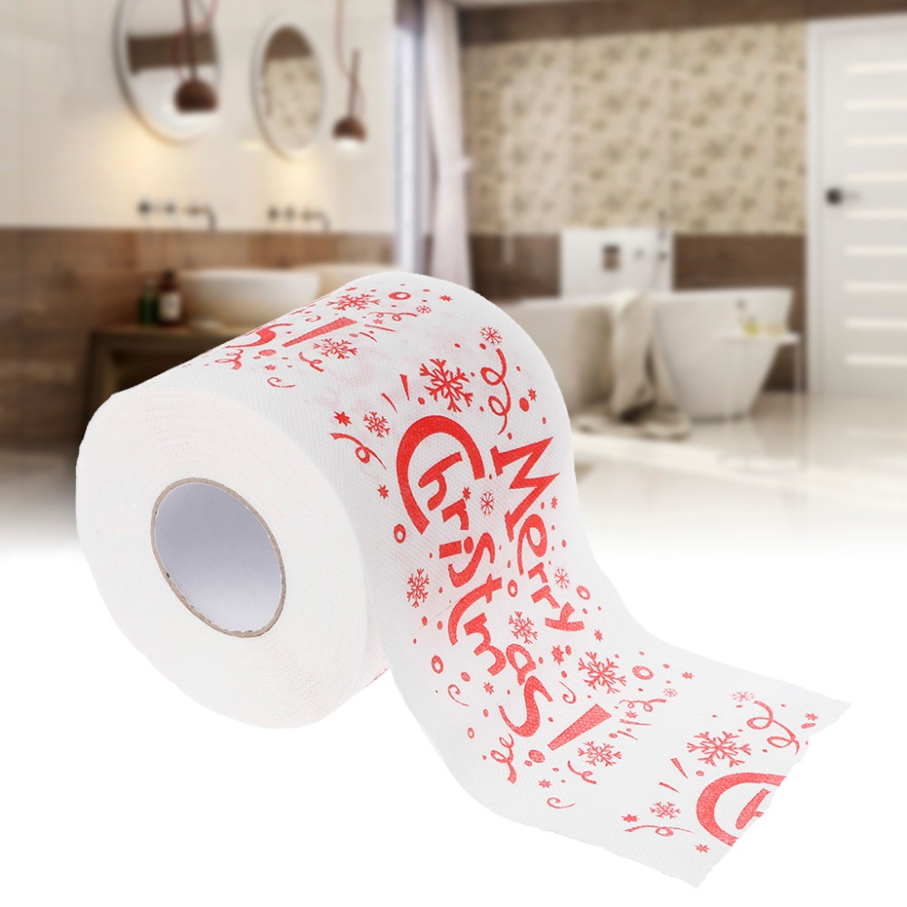 240 Leaves 2 Layers Merry Christmas Letter PrintToilet Roll Paper Tissue Living Room Decor  #6EE300004 #