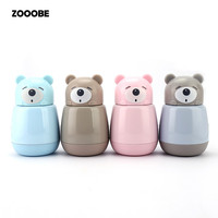 ZOOOBE Cute Cartoon Mini Bear Vacuum Thermos Woman Kid Water Bottle Stainless Steel Cup Flasks Mug