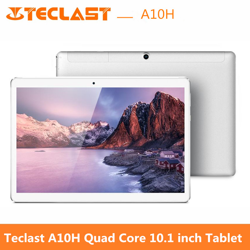 Teclast A10H Tablet PC 10.1 inch Android 7.0 MTK8163 Quad Core 1.3GHz 2GB 16GB 2.0MP + 0.3MP Double Cameras Dual WiFi 10 inch tablet pc teclast taipower p11hd hd pad quad core 16gb wifi spot shipping