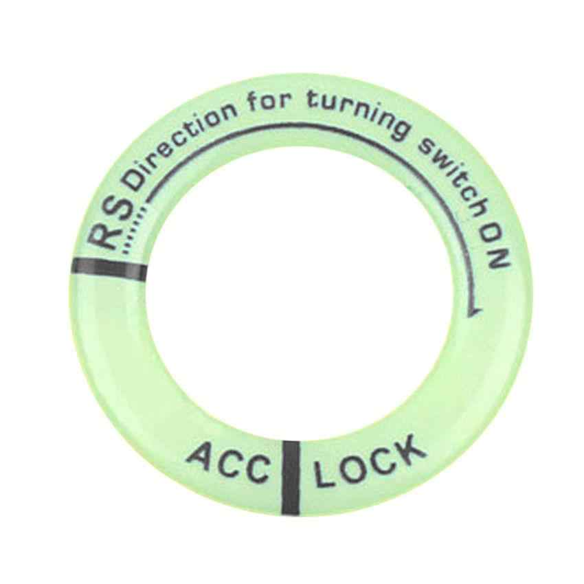 Universal Night Vision Fluorescence Sticker Fit Luminous Ignition Engine Start Cover Key Hole Ring Decal Sticker Tip