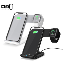 2 in 1 Fast Charging Qi Wireless Charger for Apple watch 1 2 3 4 For iPhone XS Max XR X 8 Plus For Samsung S9 Note 9 For Xiaomi