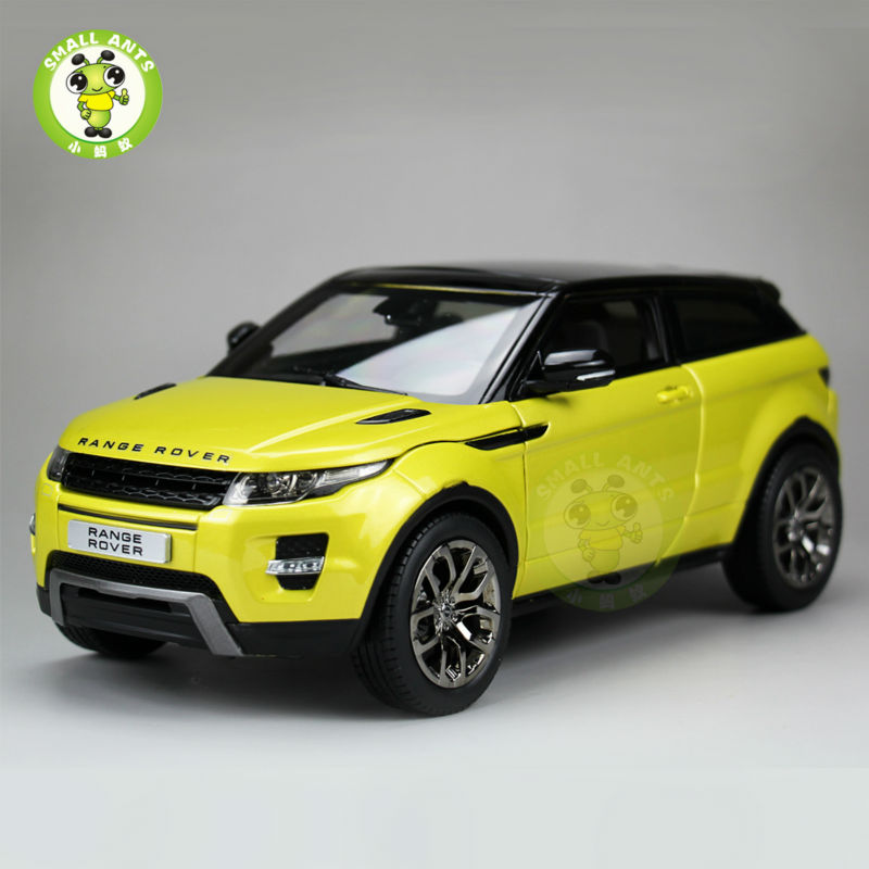 1/18 Range Rover Evoque Diecast Car Suv Model GT AUTOS Yellow alzrc devil 465 rigid sdc dfc combo rc helicopter kit aircraft rc electric helicopter frame kit power driven helicopter drone